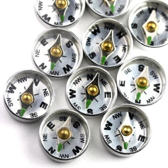 Aluminum Compass Finding - 12mm (2) FI557