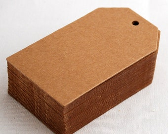 25 Count - Extra Thick 750gsm Paper Card Gift Tag - Price Tag