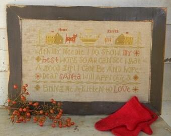 "new ""Dear Santa"" cross stitch PATTERN - from Notforgotten Farm"