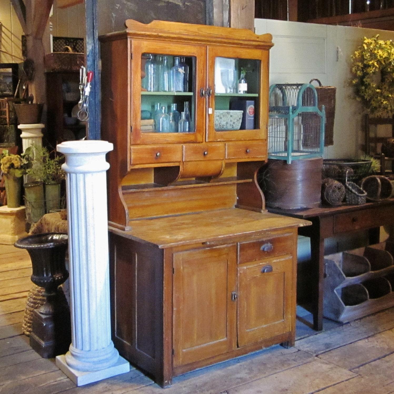 Faux Paint Kitchen Cabinets: Cabinet Faux Grain Painted Kitchen Hoosier Style Cupboard
