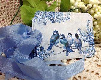 Bird Gift Tags - Set Of Six - Blue Birds  Nature Hang Tags, Nature Gift Tags, Bird Gift Tags,  Blue Bird, Birds, Bird Gift Tag