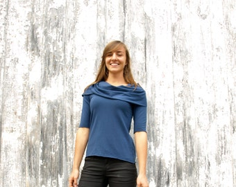 Utah ~ Cowl Top ~ Bamboo & Organic Cotton ~ Made to Order