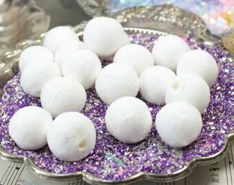 Spun Cotton Balls - White - Set of 12 - 6-100-0200
