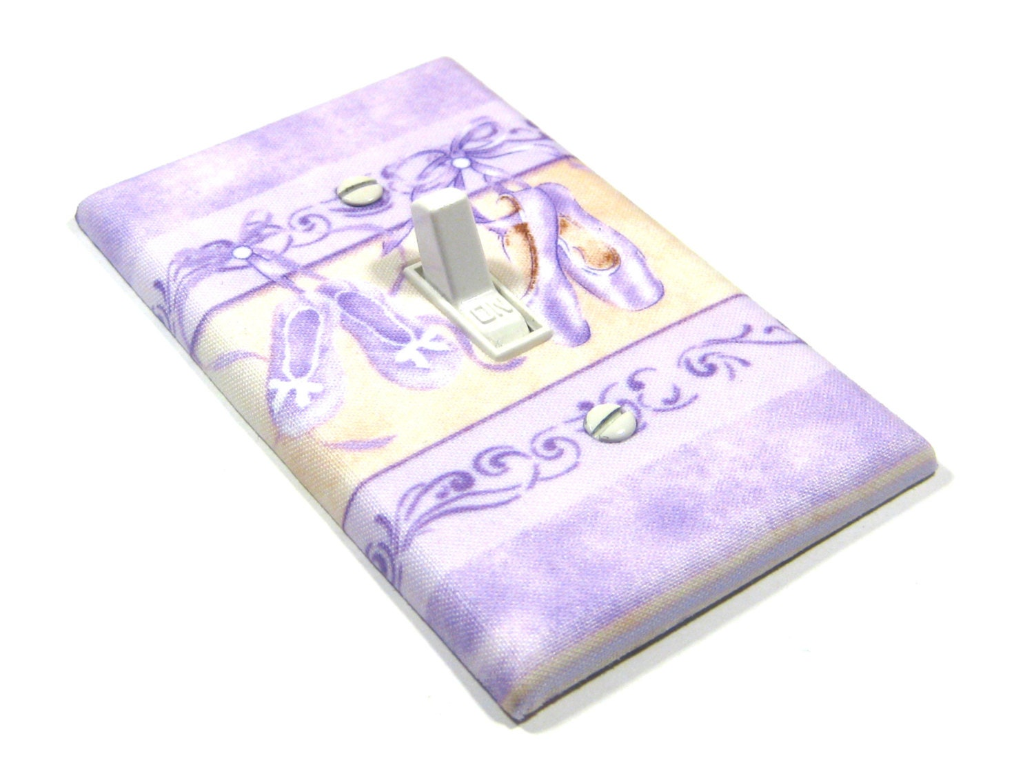 Purple Pointe Ballet Shoes Light Switch Cover by ModernSwitch