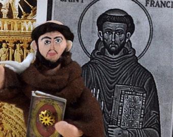 St. Francis of Assisi Historical Doll Art Miniature Italian Friar