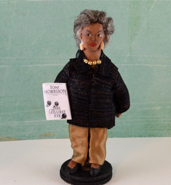 Author Toni Morrison Art Doll Miniature