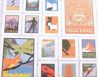 Travel Stickers Paris London Italy Tropical Scotties California Gifts Packages