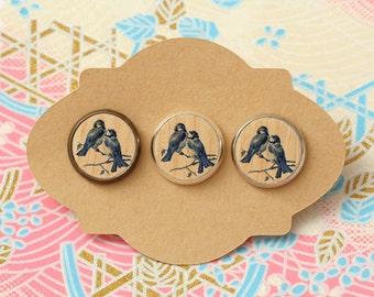 10 pcs handmade birds - earrings, pendant, ring - 12mm (PW-011)