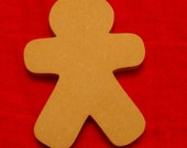 Unfinished Gingerbread Man Mosaic Base Trivet or Shelf Sitter