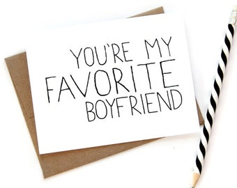 Card for Boyfriend - You're My Favorite Boyfriend