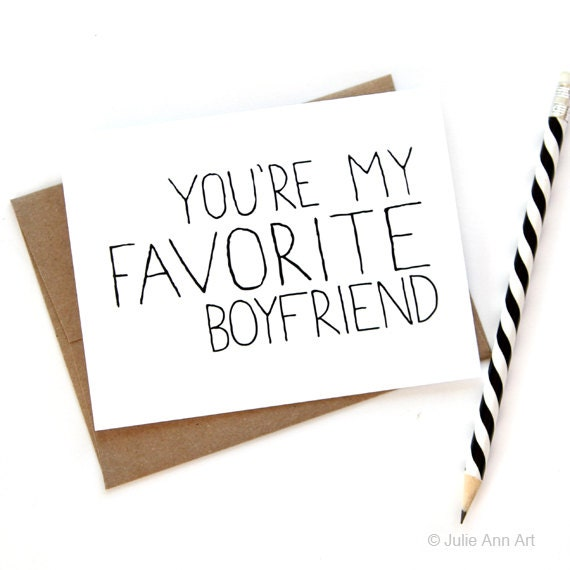 Card for Boyfriend - You're My Favorite Boyfriend