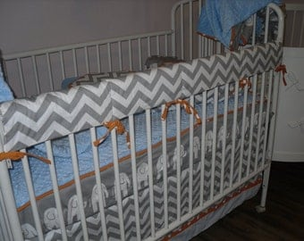 Regular Crib Rail Covers ... Custom Made with Client's Fabric -Labor Only