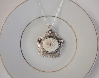 Beautiful Sea Urchin Pendant Necklace