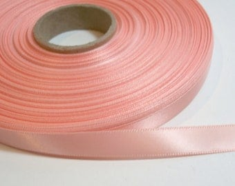 Orange Ribbon, Dark Peach Satin Ribbon 3/8 inch wide x 10 yards, Single-Faced