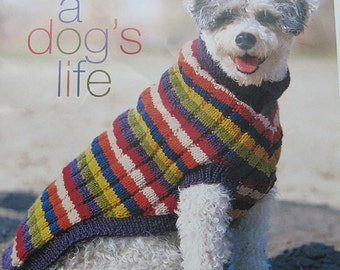 Knitting Patterns For Dogs Book : Patons A Dogs Life Sweater Knitting Pattern Book