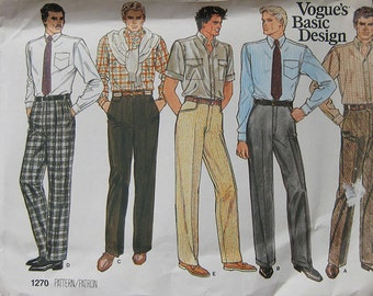 Vogue Mens Pants Pattern 1270