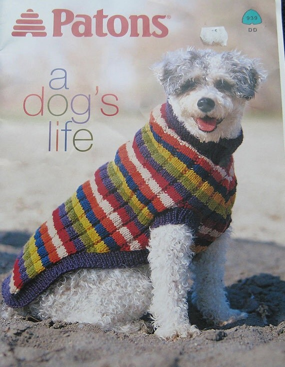 Knitting Pattern Books For Dogs : Patons A Dogs Life Sweater Knitting Pattern Book