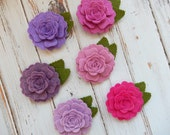 Felt Vintage Roses - Radiant Orchid Collection - You Choose the Quantity