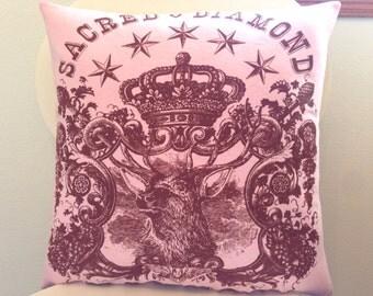Sacred Diamond Tattoo Throw Pillow