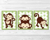 Cute Monkey Nursery Wall ...