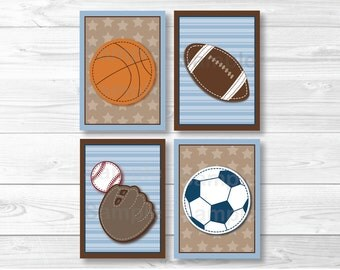 Sports Varsity Nursery Wall Art PRINTABLE Instant Download