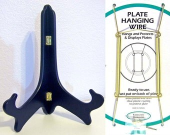 "Plate Stand or Plate Hanger for 11"" plates"