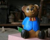 WOODEN VINTAGE BEAR