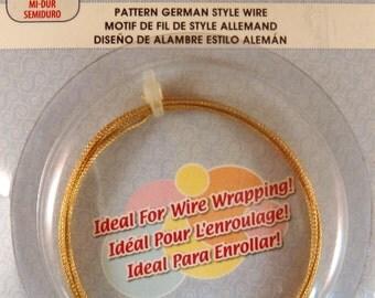 Non Tarnish Brass Wire German Style Weave Pattern 18 Gauge - 4.9 ft - 6335
