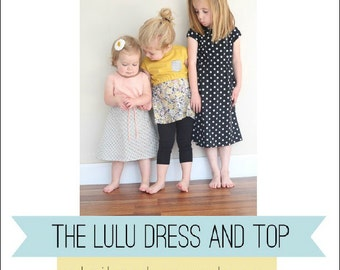 Lulu Dress and Top PDF sewing pattern