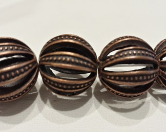 18mm Solid Copper Spacer Beads