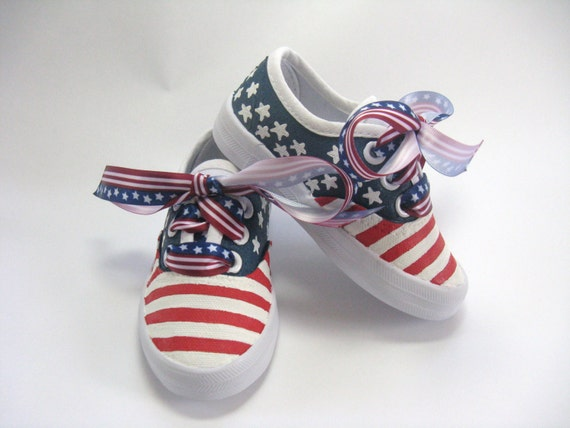 American Flag Shoes Patriotic Fourth Of July Sneakers 4th Of