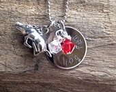 Hand Stamped Razorback Necklace