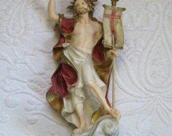 Jesus Figurine .  Santini figurine .  Signed Bisque Jesus Figurine . santini Jesus . santini