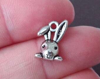 50 BULK Rabbit Charms 9x13.5x4mm ITEM:AC19