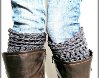 oot Cuffs, Leg Warmers, Charcoal Gray, Grey Boot Socks, Boot Cuffs, Boot Topper, Boot Cuff- Buy One Get one HALF Off
