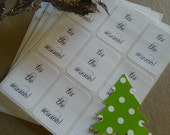 Tis The Season - holiday white sticker labels