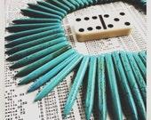 "turquoise spike stick gemstone beads 18"" strand   destash"