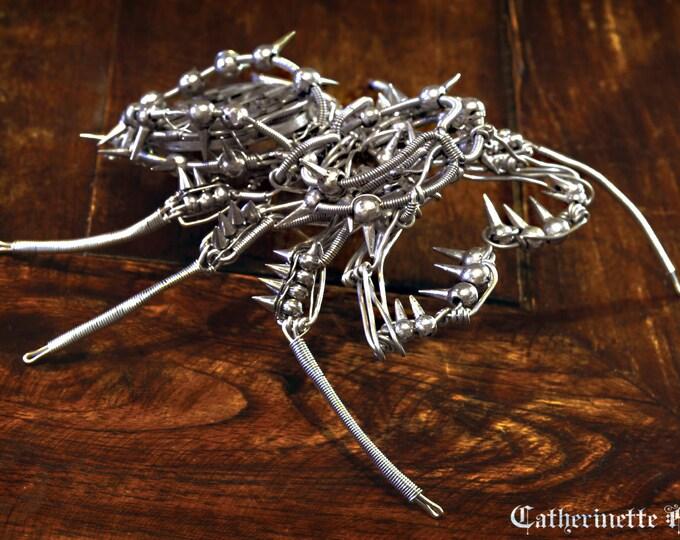 Steampunk Phrynus Reniformis clockwork Robot Sculpture  - Tinned Copper and antique Watch movement - Inspired by Ersnt Haeckel - Upgraded