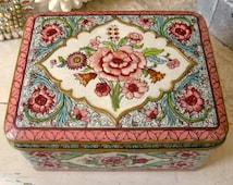 Daher Holland Petite Vintage Pink Rose Candy Tin
