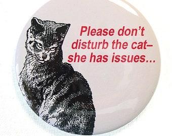 Inexpensive Gift, Funny Gift Funny Cat Fridge Magnet, Gag Gift for Cat Lovers, Cat Fans