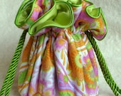 Lime Sherbet Jewelry Bag, travel organizer in colors of sherbet