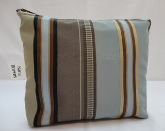 Zipper Pouch Cosmetic Bag  Make up Bag - Small - Stripe