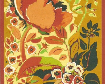 SUNSHINE GARDEN, Botanical Garden Flowers Original Digital Drawing, Printed on Mulberry Rice paper, in 8x10 mat black, white, Ready to Frame