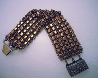 Gold Cube Cuff