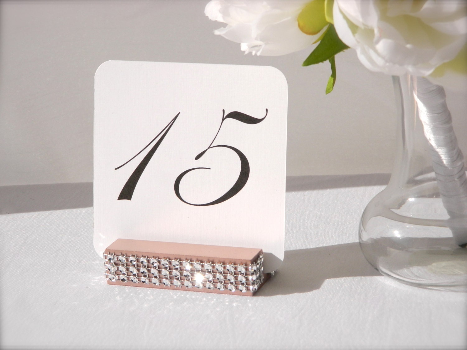 Table number holder rose gold table number holder by for Table number holders