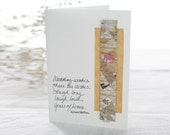 Years of Kisses - Wedding Art and Poetry Card