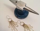 sunspot earrings, brass statement earrings IN STOCK