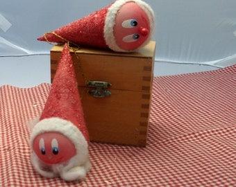 antique spun cotton santa claus ornaments