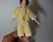 old fashioned Pyamas / pajamas / PJ's / sleep wear - wearable 1/12th scale dollhouse miniature fashion