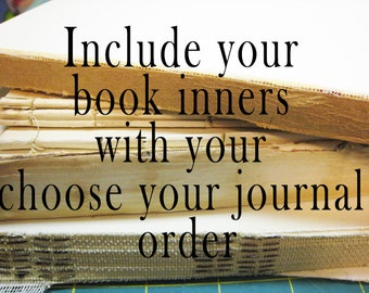 Old Book Pages / Vintage Book Pages / Inners / Text Pages from your Choose your Journal order